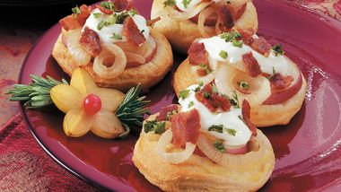 Potato and Bacon Mini Pizzas