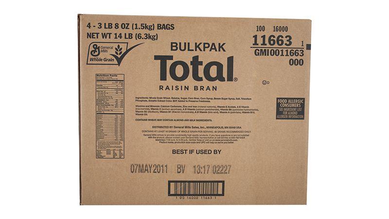 Total™ Raisin Bran Cereal Bulkpak 56