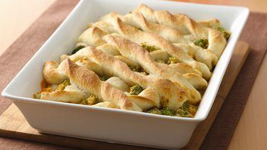 Broccoli-Cheese Breadstick Bake