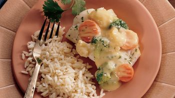 Cheesy Fish and Vegetables
