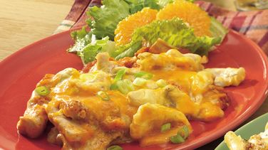 Overnight Chicken Enchilada Bake