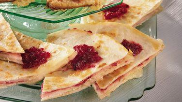 Turkey-Cranberry Quesadillas