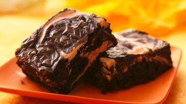 Scream! Cheese Swirl Brownies