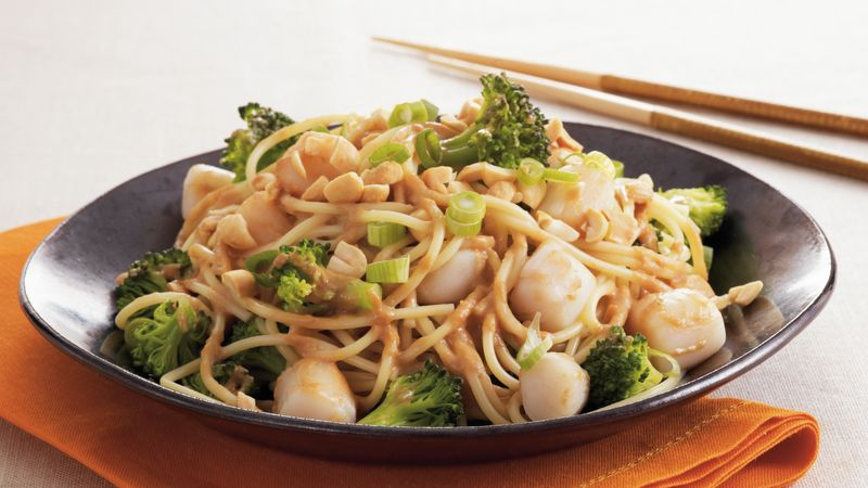 Thai Scallops and Noodles