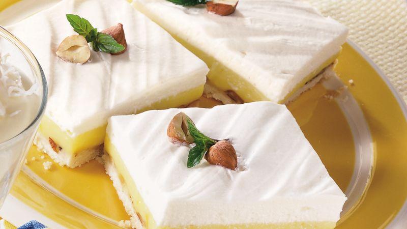 Lemon Cream Hazelnut Squares