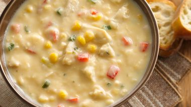 Cheesy Mashed Potato Chicken Chowder