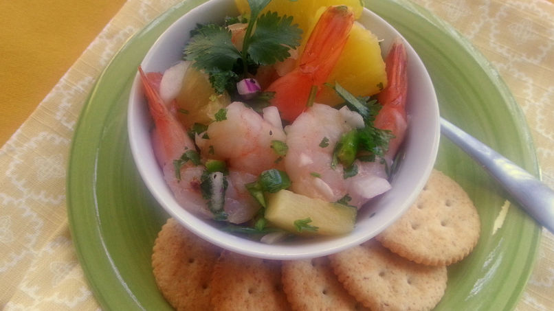 Shrimp Ceviche with Pineapple