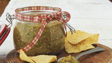Roasted Tomatillo-Poblano Salsa