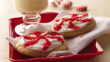 Easy Peppermint Candy Cookies