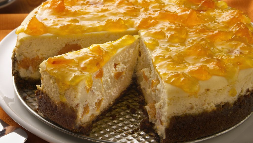 Ginger-Peach Cheesecake