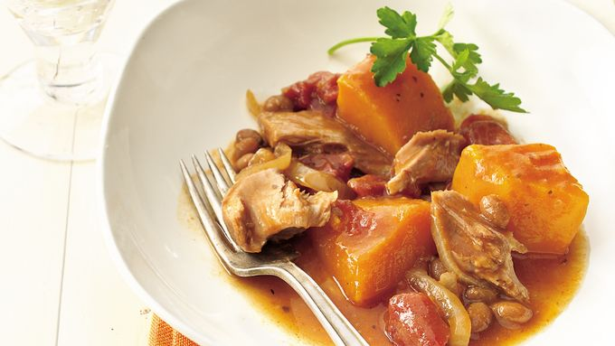 Slow-Cooker Turkey-Butternut Squash Ragout