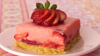 Triple-Strawberry Dessert