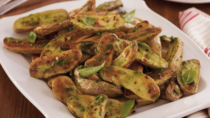 Roasted Fingerlings with Pesto