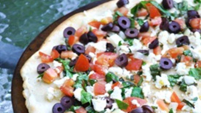 Grilled Greek Pizza