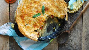 Cast-Iron Skillet Chicken Pot Pie