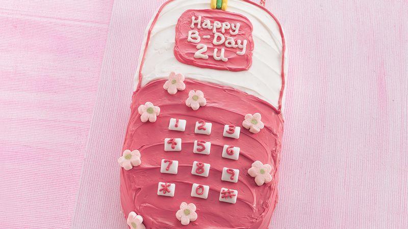 Happy Birthday Cell Phone Cake