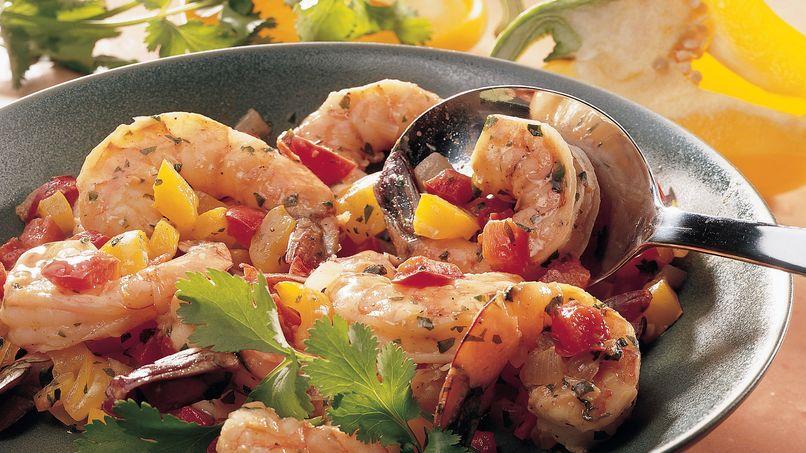 Southwestern Stir-Fried Shrimp