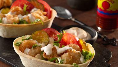 Shrimp Po' Boy Taco Boats™