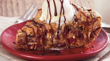 Cranberry Chocolate Skillet Cookie