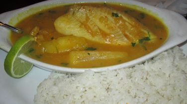 Fish in Andean Sauce with Yucca