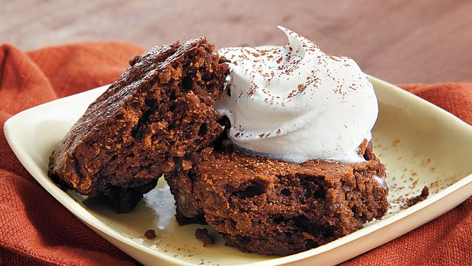 Fudgy Brownie Date Cake