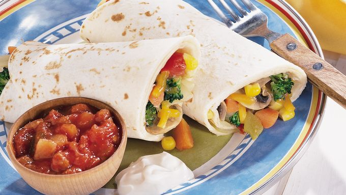 Vegetable Garden Burritos
