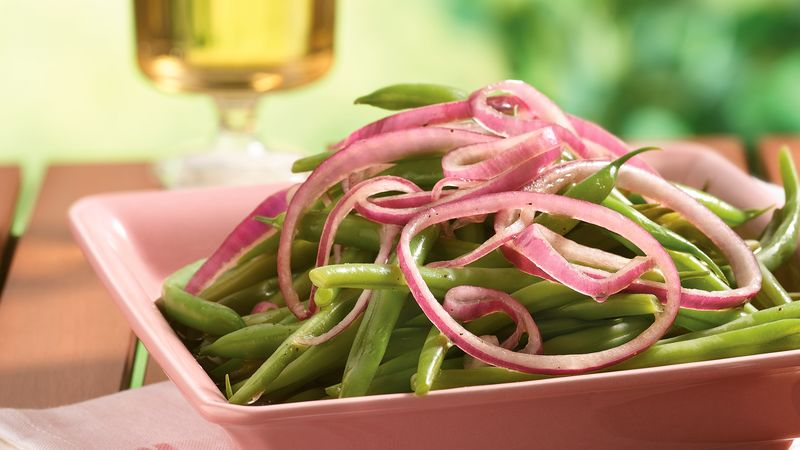 Green Beans with Pickled Onions