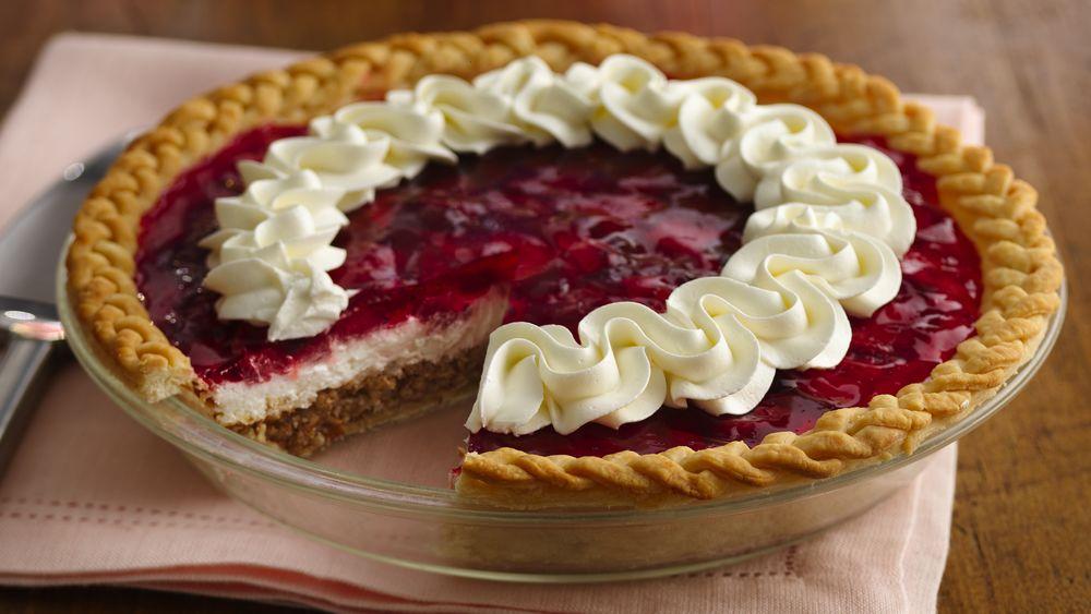 Strawberry-Pretzel Pie