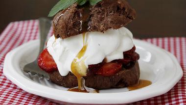 Chocolate-Caramel-Strawberry Shortcakes