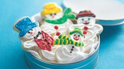 Galletas con forma de muñeco de nieve