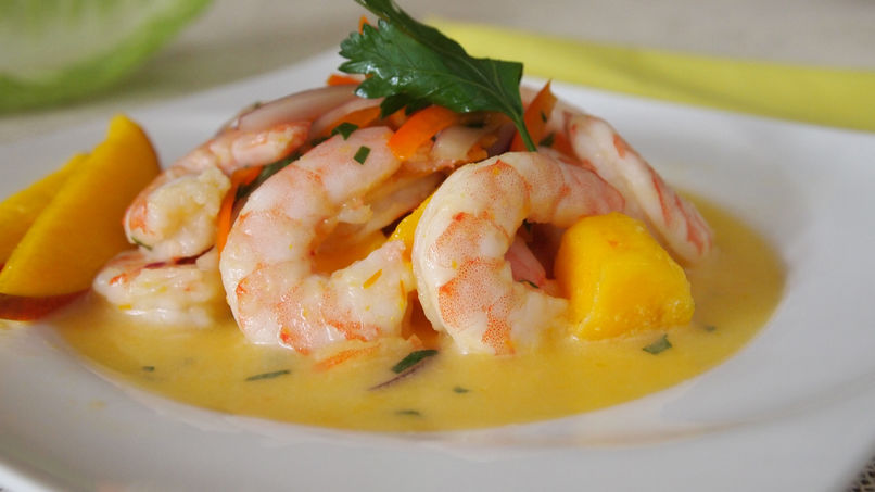Coconut Shrimp Ceviche with Mango