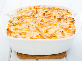 Whole Wheat Pasta Casserole with Cheese