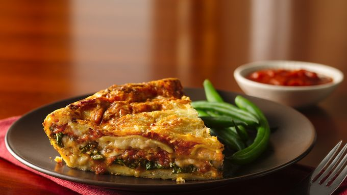 Impossibly Easy Ravioli Pie