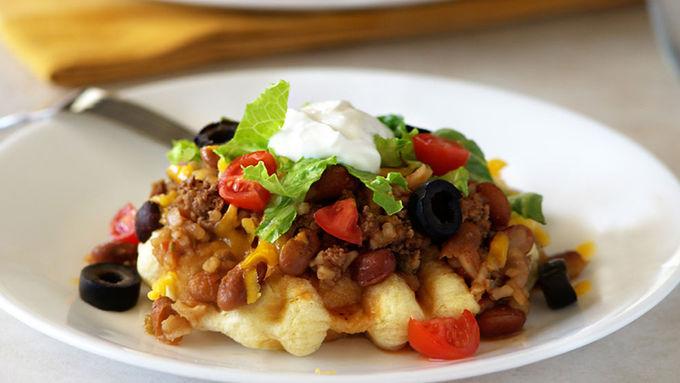 Tex-Mex Waffle Tacos