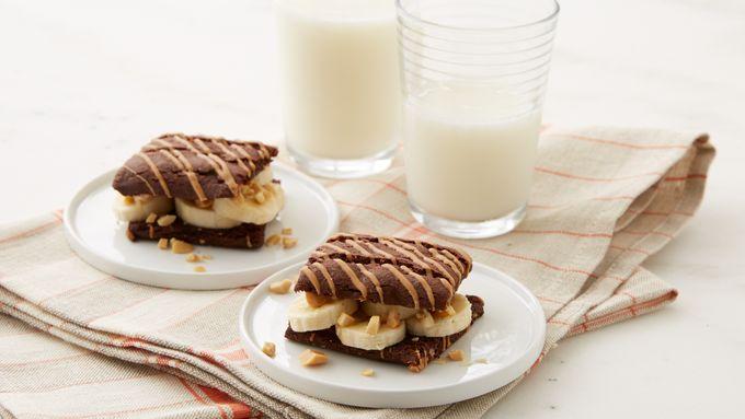 Peanut Butter and Brownie Elvis Sandwich