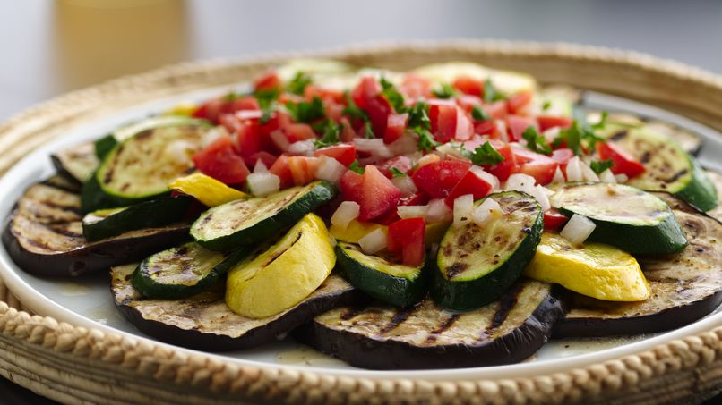 Grilled Vegetables with Roasted Garlic Italian Vinaigrette