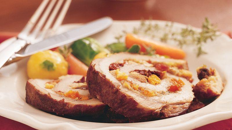 Slow-Cooker Fruit-Stuffed Pork Roast