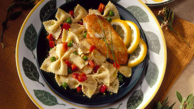 Lemon-Chive Pasta and Peppers