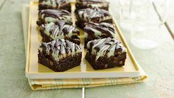 Brownies de Menta y Chocolate Sin Gluten