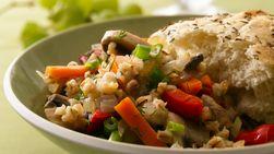 Cebada Tostada con Mix de Verduras