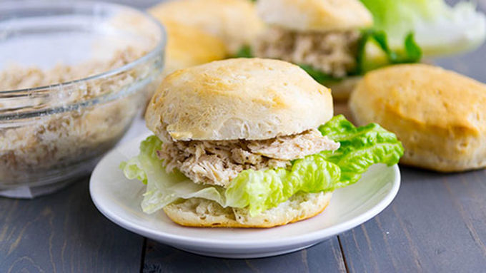 Slow-Cooker Chicken Caesar Sandwiches