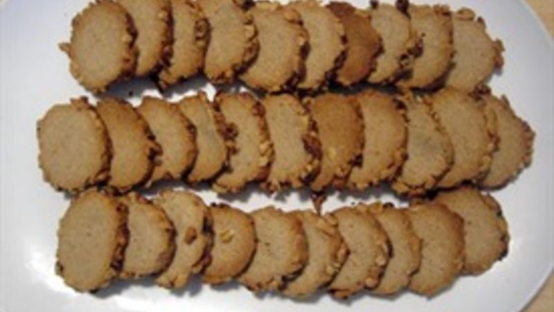 Blue Cheese and Walnut Crackers