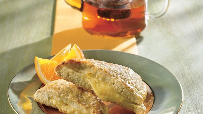 Orange Scone Wedges with Cream Cheese Filling
