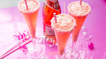 Creamy Pink Champagne Cocktail