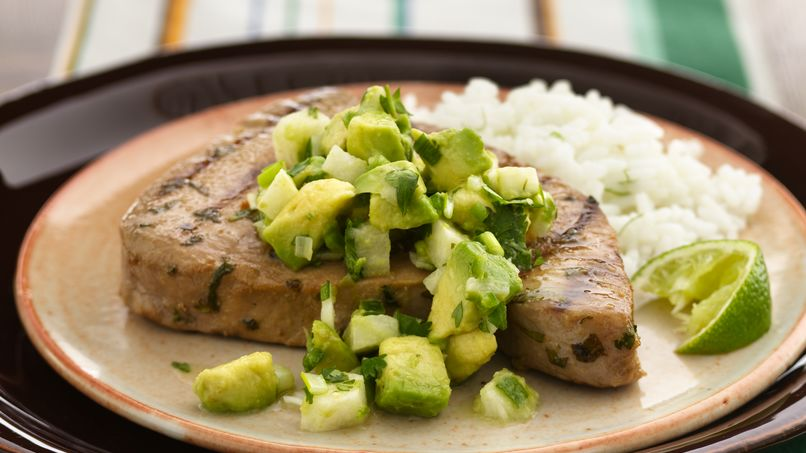 Tuna with Avocado-Jicama Salsa