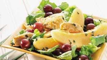Warm Chicken Salad with Fruit