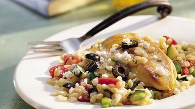 Mediterranean Chicken and Orzo