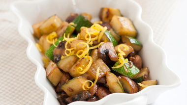 Zucchini and Mushrooms in a Lemon Butter Sauce