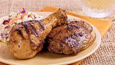 Grilled Beer-Brined Chicken