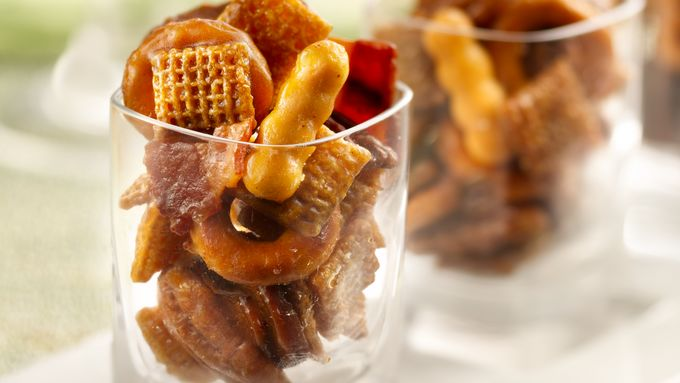 Bourbon Bacon Chex Mix